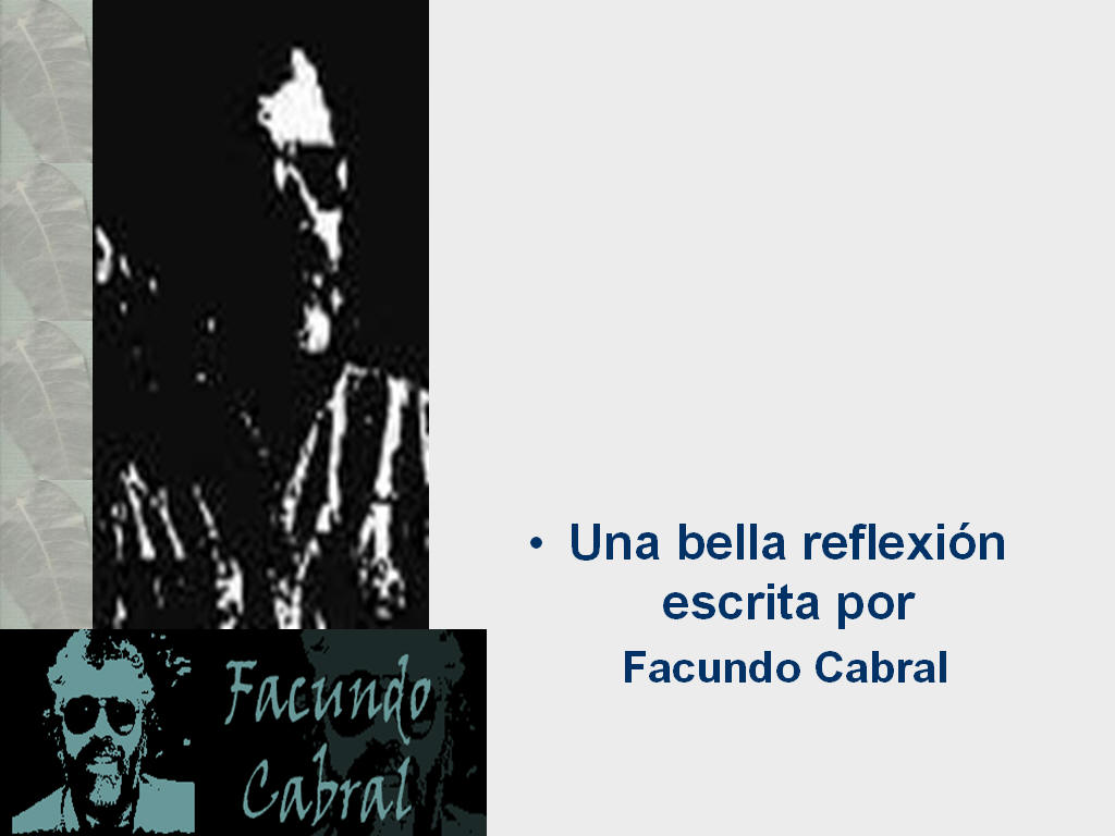 Presentaci�n Power Point de Arte y Lietratura - Facundo Cabral